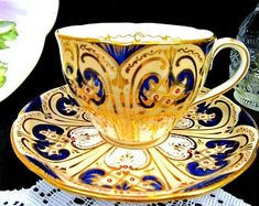 Items similar to Paragon Tea cup And Saucer, Cobalt Blue and Gold Teacup and Saucer, Floral Tea cup. on Etsy Items similar to Paragon Tea cup And Saucer, Cobalt Blue and Gold Teacup and Saucer, Floral Tea cup. on Etsy Tea Cup Set, Cup And Saucer Set, Tea Cup Saucer, Tea Sets, Antique Tea Cups, Vintage Cups, Coffee Accessories, Teapots And Cups, Cobalt Blue