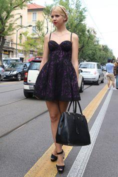 Pretty dress Milan Street Style - StreetStyle - Spring Summer Fashion 2013