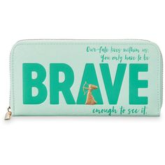 Merida Brave Wallet Oh My Disney (€16) ❤ liked on Polyvore featuring bags, wallets, bill fold wallet, vegan leather bags, billfold wallet, coin pocket wallet and faux leather wallet