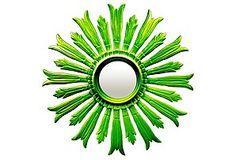 Large Sunburst in Lime