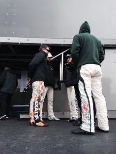 .3-30-14 at Martinsville Kasey Kahne, Jeff Gordon, jimmie johnson & Dale Jr waiting on driver intros.