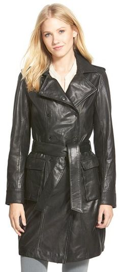 LaMarque Leather Trench Coat. I just can't get enough of this.