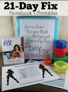 21-Day Fix Notebook and Printables