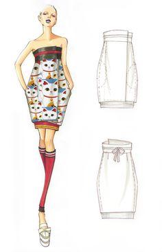 quenalbertini: Design & Illustration by Paul Keng Fashion Illustration Techniques, Fashion Illustration Sketches, Fashion Sketchbook, Fashion Sketches, Fashion Drawings, Moda Fashion, Fashion Art, Womens Fashion, Fashion Design