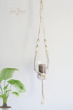 """Moderne Makramee Blumenampel 115 cm // modern macrame planthanger 45.27"""" von byJadaDesigns auf Etsy"""
