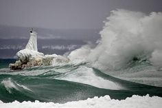 Huge Wave Crashes on the Petoskey Breakwater | Flickr - Photo Sharing!