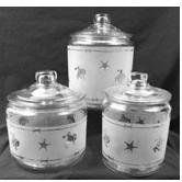 Looking For Western Brands Hand Etched Kitchen Canister Jars In 3 Sizes?  Compare Prices For Western Brands Hand Etched Kitchen Canister Jars In 3  Sizes, ...