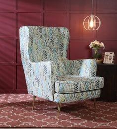 Maria Wing Chair In Abstract Multicolour By Casacraft Wing Chair