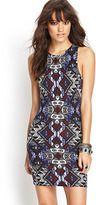 FOREVER 21 Tribal Print Bodycon Dress