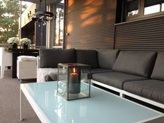 Sofa, Couch, Green Rooms, Outdoor Furniture, Outdoor Decor, Outdoor Spaces, Outdoor Gardens, Balcony, Terrace