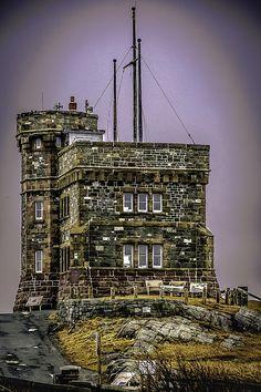 Cabot Tower Located on Signal Hill, St. John's, NL, Canada By Gord Follett Newfoundland Canada, Newfoundland And Labrador, Cabot Tower, Ottawa, Gros Morne, Canadian Travel, Atlantic Canada, Canadian History, O Canada