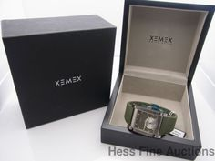 New In Box Xemex 2800.59 Avenue Petite Seconde Oliver Dial Watch Retail $2895 #Xemex #Sport