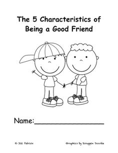 This is a great book that teaches the five characteristics of being a good friend: caring, trustworthy, responsibility, fairness, and respect.  This covers the History and Civics strand in Kindergarten about Friendship.  I incorporate their own examples of how they can be a good friend by writing on Handwriting without Tears lines.