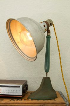 vintage clamp lamp or photography light phtographer s lamp