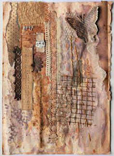 mixed media art from Agnieszki-Anna blog ... beautiful textures and layers!