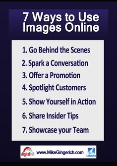 7 Ways to use Images In Visual media1 Visual Stories: 7 Ways Digital Marketers Can Use Images in Social Media