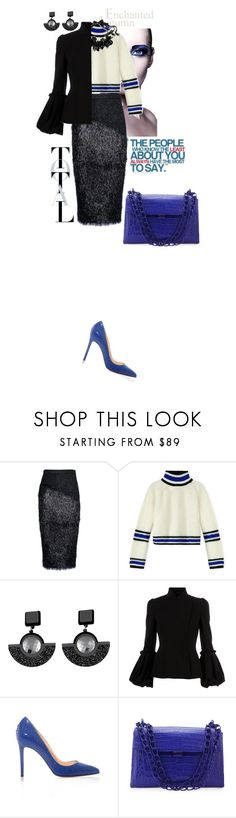 """""""The people who know the least about you..."""" by gorgeous-and-chic ❤ liked on Polyvore featuring Masha Ma, Marni, Jennifer Loiselle, Taschen, Alexander McQueen, Christian Louboutin and Nancy Gonzalez"""