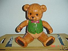 Ceramic JOINTED Teddy Bear Boy - an unusal and interesting collectible. Jointed glass/ceramic. Click photo to see details