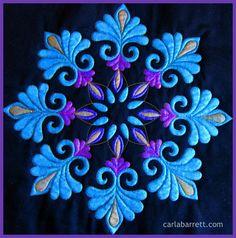 paintedquilt2 Carla Barrett featheredfibres