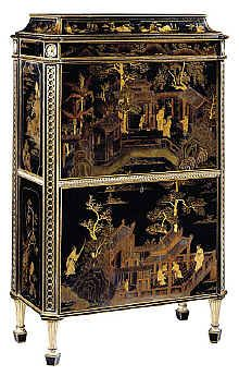 antique marks glossary - chippendale chinese lacquer secretaire c1773 Antique Terms (L) | Lace to Loetz and Lustre www.antique-marks.com