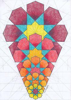 #fractal #geometric #geometry #symmetry #handmade #mathart #regolo54 #islamic_art