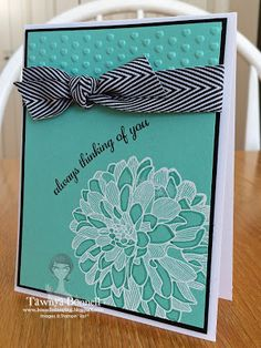 From My Pad to Yours: Stampin' Up! Regarding Dahlias