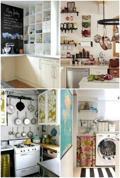 Inspiration, tips and ideas for storage solutions in small kitchens {forty percent fringe : sixty percent face: new home plans: kitchen}