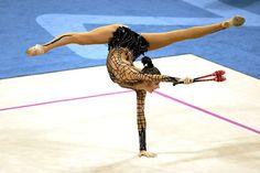 Anna Bessonova of Ukraine, rhythmic gymnast
