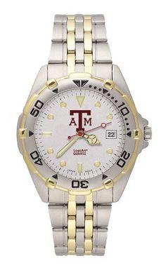Texas A Aggies Mens Brushed Chrome All Star Watch Logo Art. $79.95