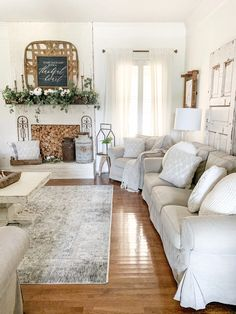 Today, I am so excited to be sharing my new vintage inspired living room rug from Boutique Rugs. It has the perfect mix of dark tones, neutral feels Living Room Flooring, Living Room Carpet, Living Room Grey, Rugs In Living Room, Home And Living, Living Room Decor, Vintage Living Rooms, Cozy Living, Modern Farmhouse Interiors