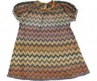 MISSONI Junior Girls Multi Coloured Iconic Zig Zag Dress