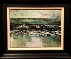 Light Sky, Dark Waters by Nerine Tassie (McIntyre). Oil & Mixed media on canvas. eds gallery Sky Landscape, Sky Art, Mixed Media Canvas, Artist At Work, Original Paintings, Sculpture, Gallery, Prints, Image