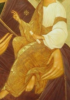Painting Process, Orthodox Icons, Virgin Mary, Ancient History, Christ, Aurora Sleeping Beauty, Madonna, Detail, Closer