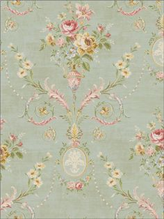 Seabrook Designs Tapestry Floral   TY30604  Blue
