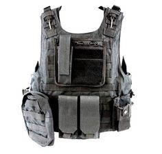 Diamond Tactical MOLLE StrikeForce Modular Plate Carrier Loaded w/ 6 Integrated Pouches & Armor Plate Ready - Ultra High Quality Operator Grade 600D Rugged Construction - BLACK by Diamond, http://www.amazon.com/dp/B005CK1EBM/ref=cm_sw_r_pi_dp_wt4Mpb039RQBM