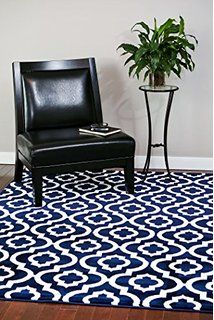 Exceptional 3028 Navy Moroccan Trellis 5u00272x7u00272 Area Rug Carpet Large New. Living Room  ... Amazing Ideas