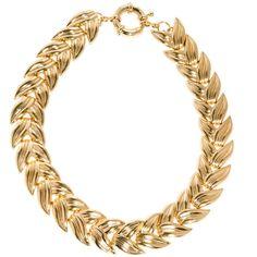 Asos Linked Leaf Necklace ($35) ❤ liked on Polyvore