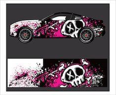 Racing Car Design, Bike Design, Car Stickers, Car Decals, Creative Instagram Names, Car Paint Jobs, Vinyl For Cars, Car Vector, Arte Horror