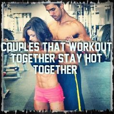 Need some #motivation? Couples that #workout together stay hot together. #fitness #exercise #love