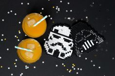 Sous-verre en #perles #Hama #StarWards ‪#‎maythe4th‬