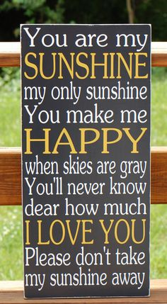 You Are My Sunshine Subway Typography Word Art by WordsForTheSoul, $50.00