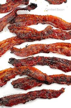 Easy! GRILLED (or baked) Candied Bacon Recipe shewearsmanyhats.com #bacon