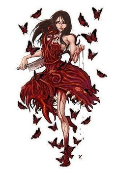 use idea for elsa!!! dress- flames and butterflys as spits of fire, add her face on- trial and error