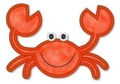 Applique CRAB 2  4x4 5x7  Machine Embroidery Design BEACH sea life animal ocean. $2.99, via Etsy.