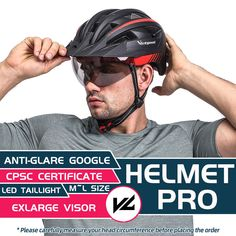 here is the helmet that meets anything you want. Goggle, visor, LED Light, adjustable regulator, bug nets & soft padding. #cycling #bikehelmet Bicycle Helmet, Bike, Tail Light, Oakley Sunglasses, Cycling, Led, Bicycle, Biking, Bicycling