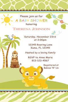 lion king baby shower invitations baby on pinterest lion king baby