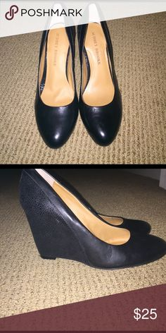 Audrey Brooke Daphne Wedge Excellent Condition. Very comfortable! Worn once for a job interview! Audrey Brooke Shoes Wedges