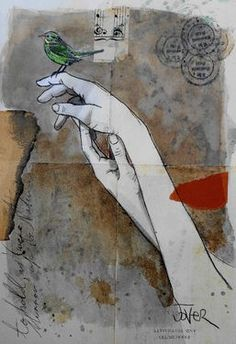 "Saatchi Art Artist Loui Jover; Drawing, ""little memories"" #art"