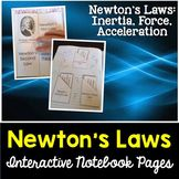Newton's Laws Interactive Notebook Pages Science Resources, Science Activities, Newtons Laws, Force And Motion, Science Classroom, Interactive Notebooks, Teacher, Student, Education