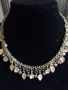 I just love frosted silver, and this choker style shows off well! One of a kind!